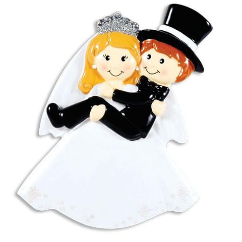 Bride Carrying Groom Ornament