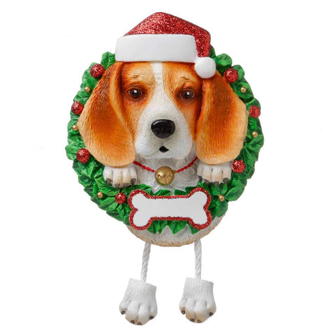 Dog In Wreath Beagle