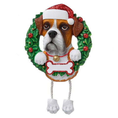 Dog In Wreath Boxer