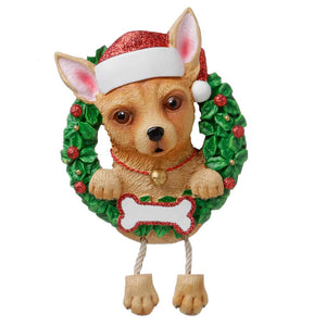 Dog In Wreath Chihuahua