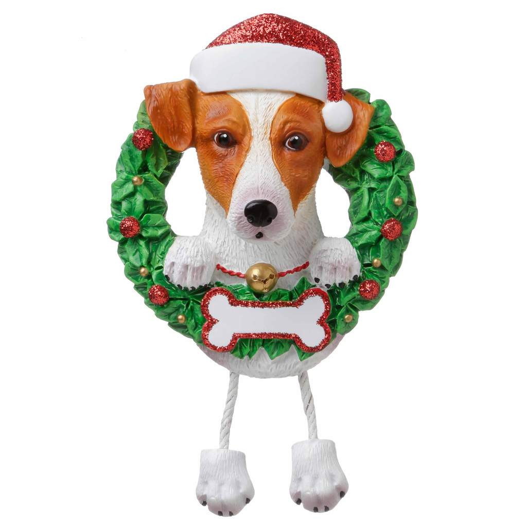 Dog In Wreath Jack Russell