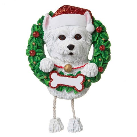 Dog In Wreath Westie