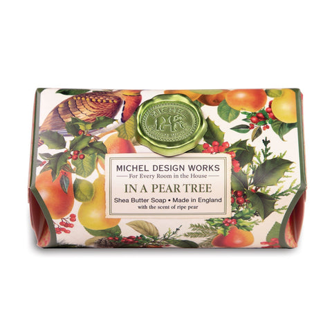 Michel Design Works Large Soap Bar: In A Pear Tree