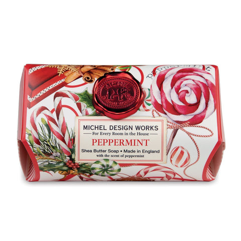 Michel Design Works Large Soap Bar: Peppermint