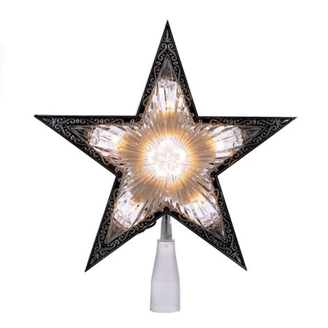 5 Point Double Sided Tree Topper Star Lit