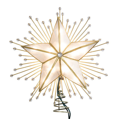5 Point Capiz Star Tree Topper Lit