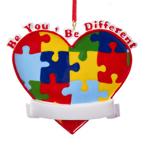 Autism:  Be You, Be Different Ornament