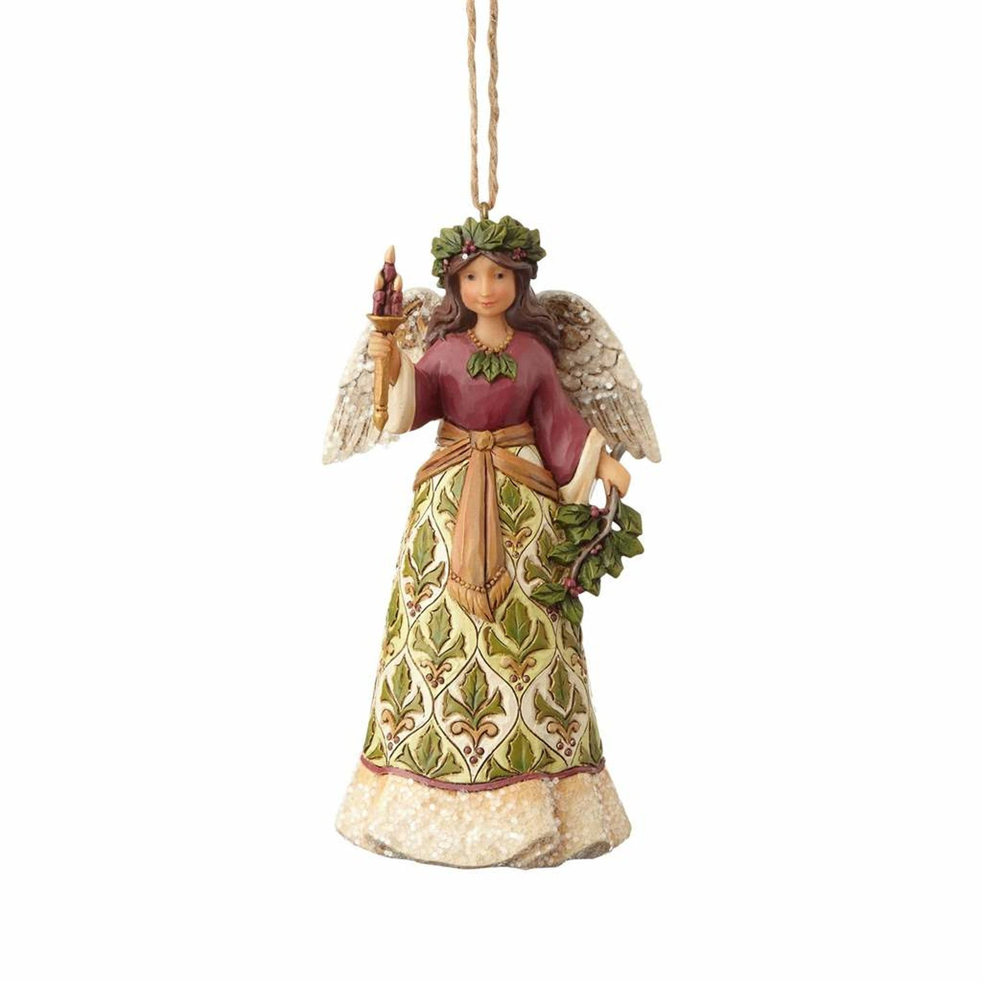 Victorian Angel w/Candle Ornament