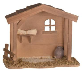 Nativity Barn 8""