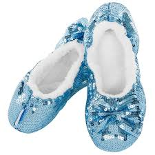 Classic Baby Blue Sequin Slippers  LADIES SIZES