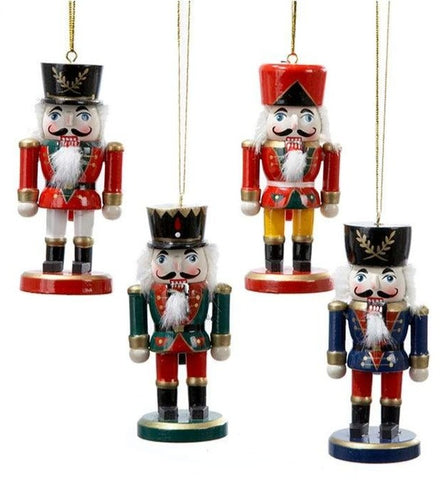 Assorted, Wooden Nutcracker Ornament, INDIVIDUALLY SOLD