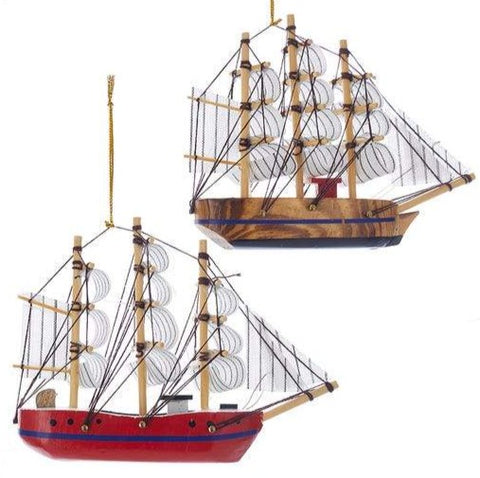 2 Assorted Schooner Ornaments, INDIVIDUALLY SOLD