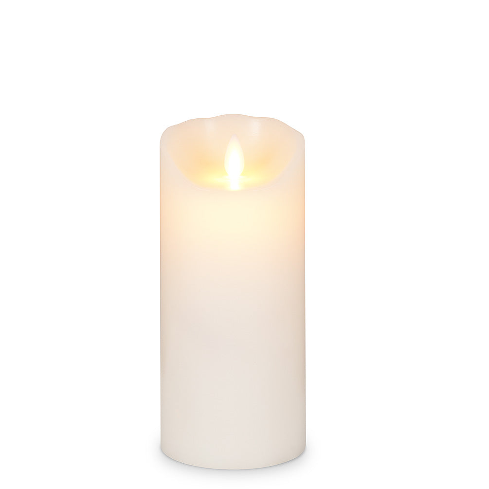 3x7 Flameless Pillar Candle In Cream