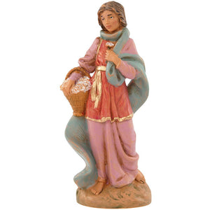 Claudia Woman w/ Flower Basket 5""