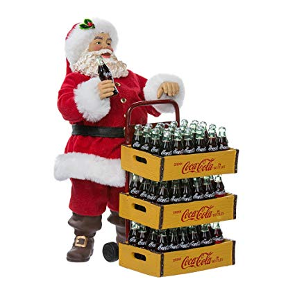 Coca Cola Santa with Trolley