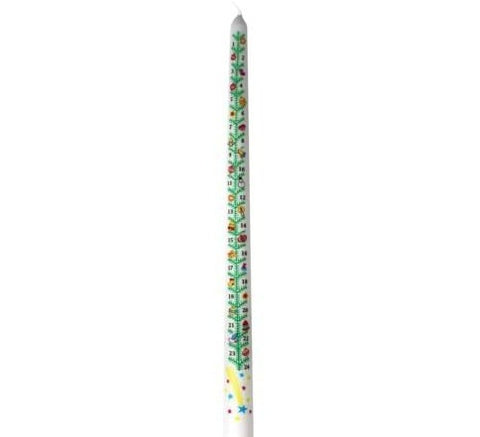"15"" Countdown Advent Candle"