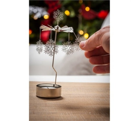 Tealight Candle Holder: Snowflakes