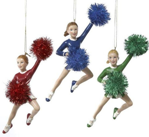 Assorted Cheerleader Ornament, INDIVIDUALLY SOLD