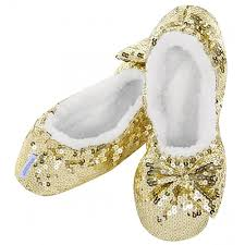 Classic Gold Sequin Slippers  LADIES SIZES