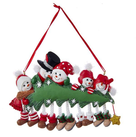 Snowman Family of 5 Ornament