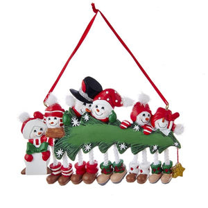 Snowman Family of 6 Ornament