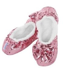 Classic Pink Sequin Slippers LADIES SIZES