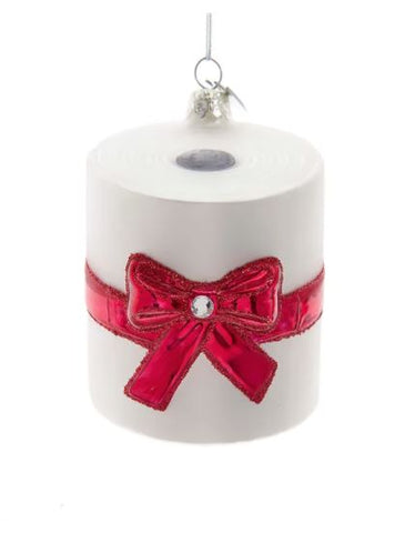 Glass toilet Paper Roll with Bow