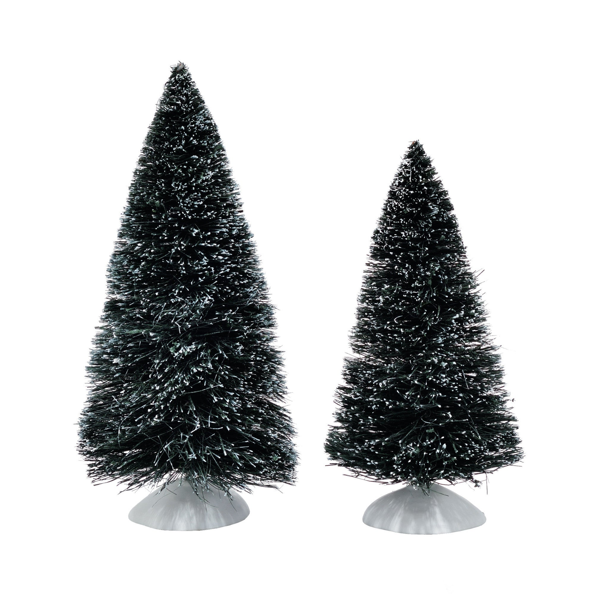 Village Accessory: Bag-O-Frosted Topiaries, Medium, Set of 2