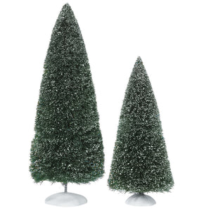 Village Accessory: Bag-O-Frosted Topiaries, Set of 2