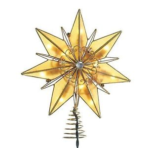 6 Point Capiz Star Tree Topper Lit