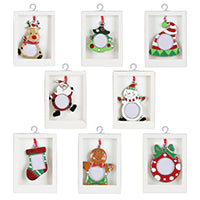 Assorted Christmas Frame Ornament, INDIVIDUALLY SOLD