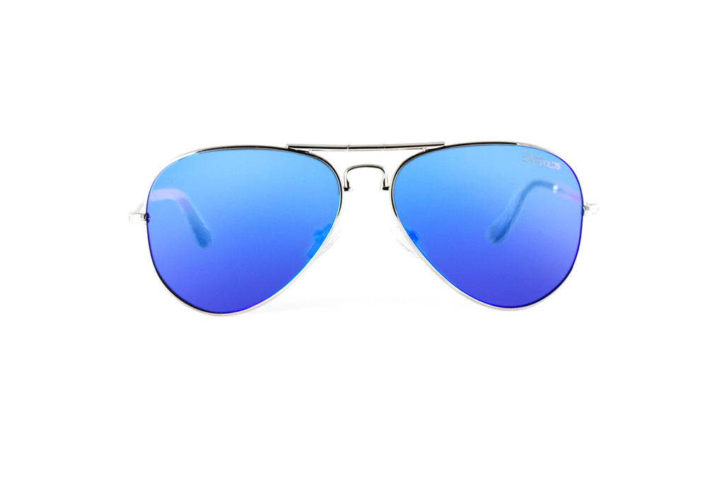 Ace - Silver Blue Flash Polarized