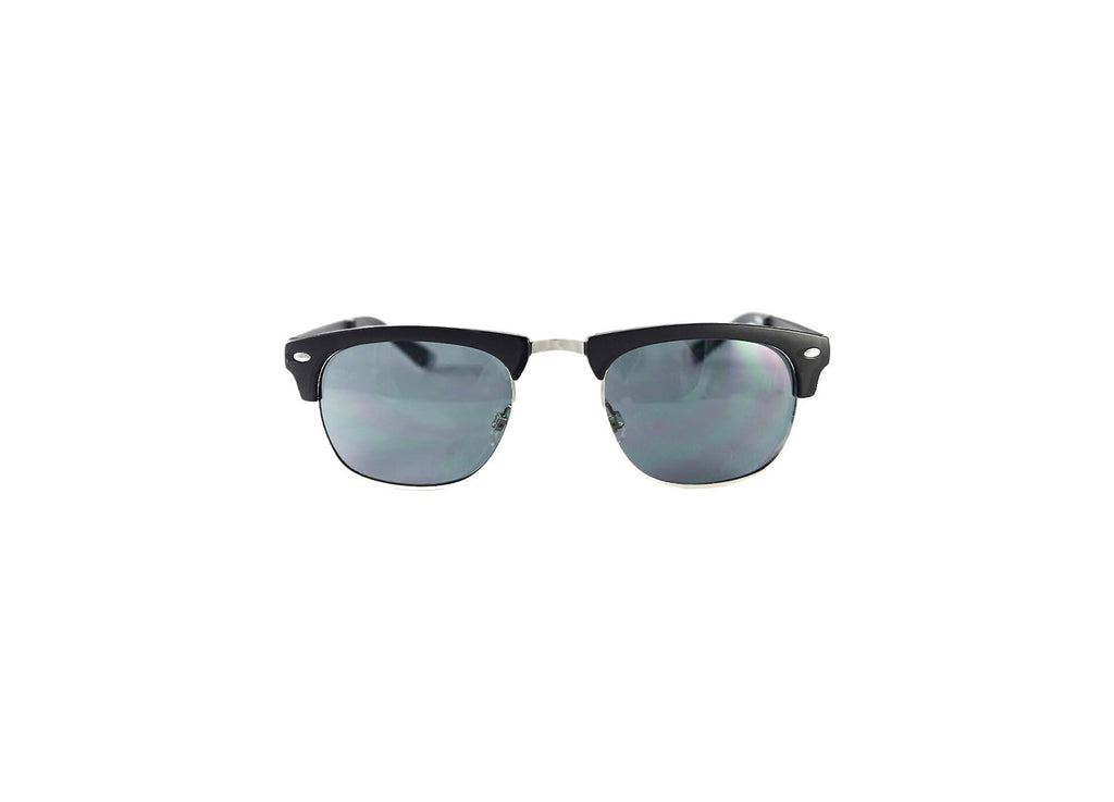 Country Club-Black Matte Silver Bi Focal Sun Reader