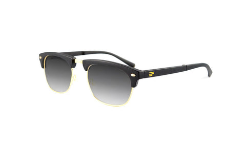 Country Club Black Matte Gold Bi Focal Sun Reader