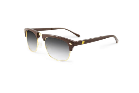 Country Club-Brown Gloss Gold Bi Focal Sun Reader