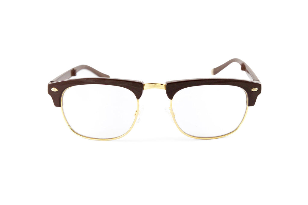 Country Club-Brown Gloss Gold Reader