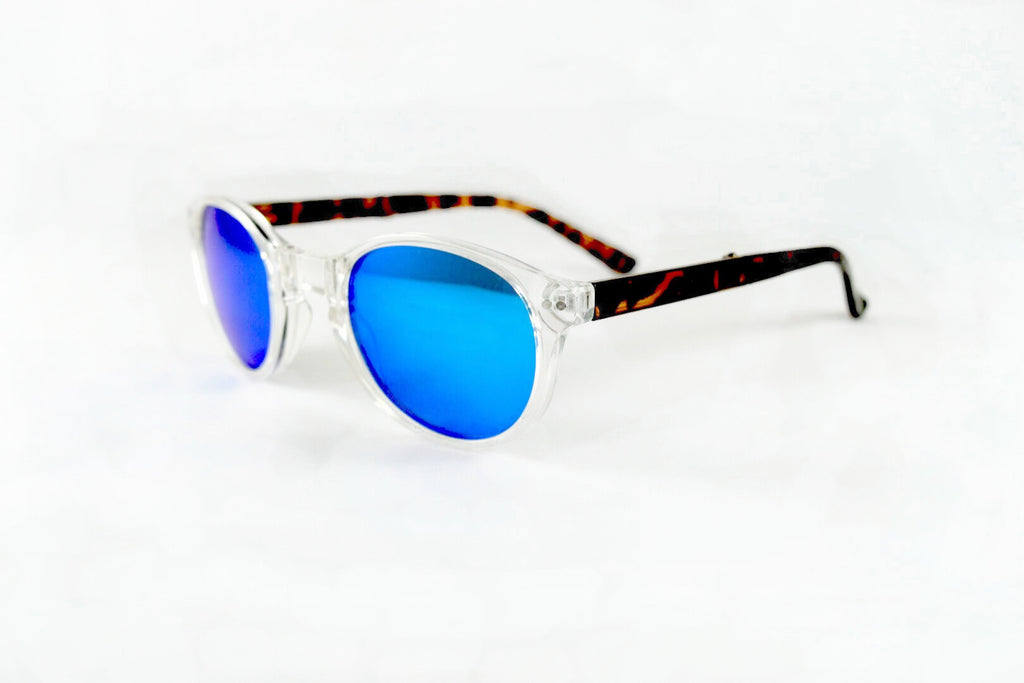 Hampton- Clear Tortoise Blue Flash-Pre Order