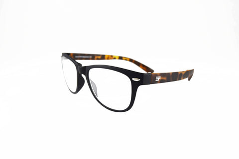 Winner-Black/Tortoise Matte Reader