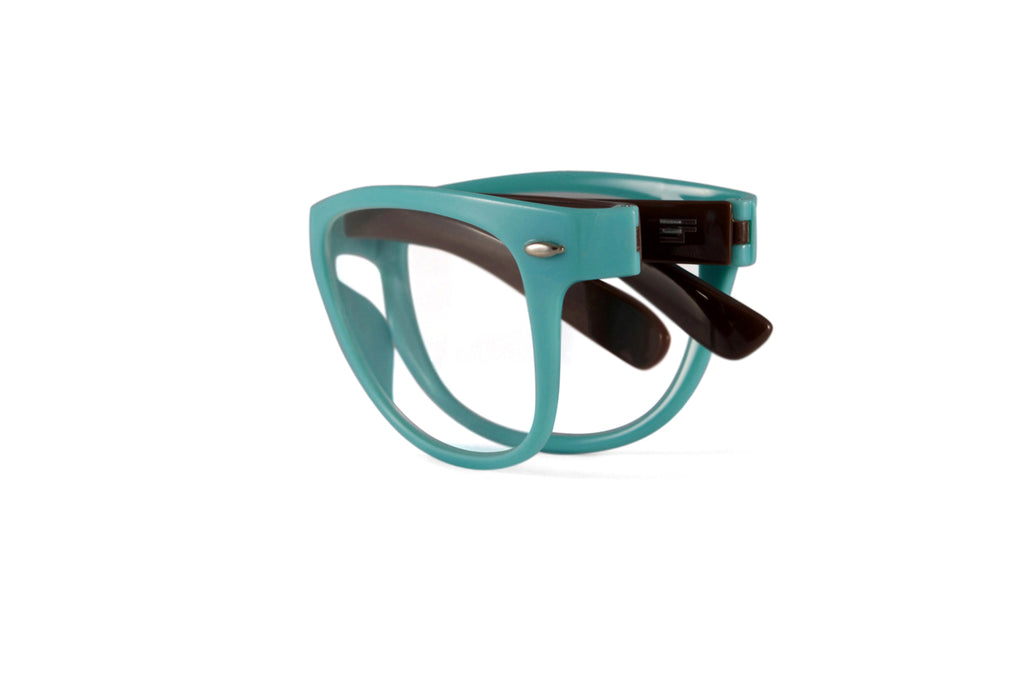 Winner-PowderBlue/Brown Gloss Reader