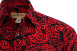 St. Kitts Sunrise red batik cotton shirt really phenomenal quality and craftsmanship.