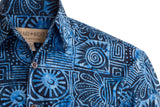 Blue hawaiian shirts are Wonderful shirts for the Summer, They fit true to size.