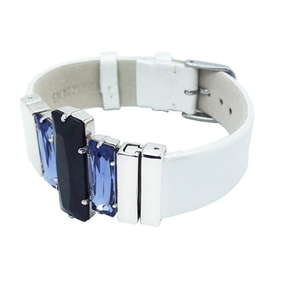 "Dark&Light Bracelet & Cream ""Elegant"" Natural Leather Strap"