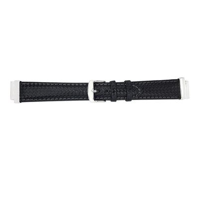 `Chess` Black Natural Leather Strap for C&B Bracelets