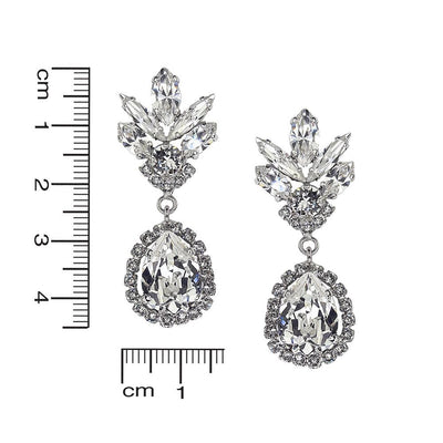 Eliana Bridal Earrings Swarovski Crystals White Rhodium Plating