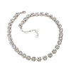 Necklace with Swarovski  code 1006 Crystal white stones