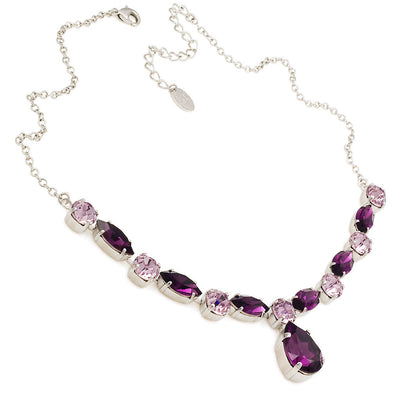 Necklace with Swarovski  code 1035 Amethyst