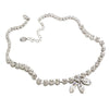 Necklace with Swarovski  code 1043 Crystal white stones