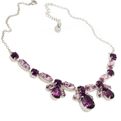 Necklace with Swarovski  code 1082 Amethyst