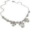 Necklace with Swarovski  code 1082 Crystal white stones