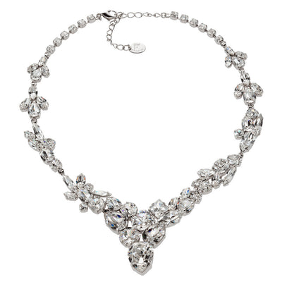 Necklace with Swarovski  code 1181 Crystal white stones